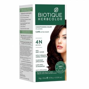 Biotique Bio 4N Brown Herbcolor, 50gm + 110ml