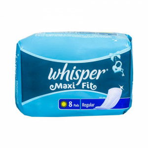 Whisper Maxi Fit Sanitary Pads - Regular, 8  Pieces